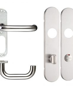 19mm Dia Lever Handles on Radius Long Plate (230mm)